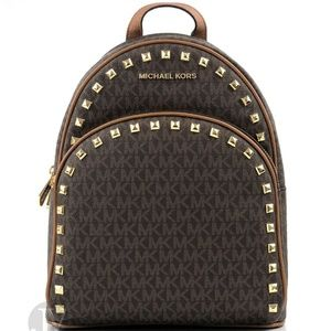 Abbey Stud MD Signature Brown Backpack ~ Book Bag